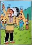 Emaille : Couverture Tintin Amérique