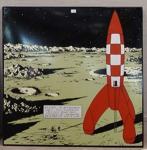 Emaille : Fusée Tintin marche sur la Lune 1m