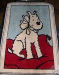 AXIS Tapis Milou coussin rouge