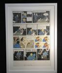 Lithographie WWF : Tintin au Tibet