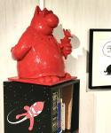 Geluck Le Chat sculpture : J'ai les boules ! Rouge