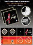 Médaille Tintin Lune + 1 + 2 cents 50e anniversai