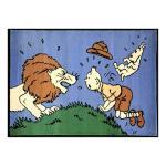 AXIS Tapis Tintin Milou lion Congo