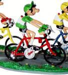Pixi Franquin Gaston cycliste maillot vert vélo ro