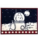 Moulinsart tapis Tintin cosmonaute