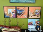 Tintin Canvas - Toile imprimée : Scène Licorne