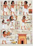 Carte de voeux : Egyptienne 1978 signée Georges &