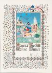 Carte de voeux Tintin Enluminure 1967 signée