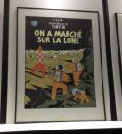 Sérigraphie Escale : Tintin marché sur Lune
