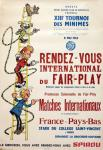 Affiche Franquin Spirou tournoi 1963 Fair-Play