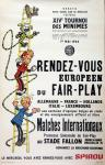 Affiche Franquin Spirou tournoi 1964 Fair-Play