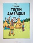 Sérigraphie Escale : Tintin Amérique
