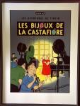 Sérigraphie Escale : Tintin bijoux de Castafiore