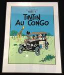 Sérigraphie Escale : Tintin au Congo