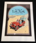 Sérigraphie Escale : Tintin au pays l'Or Noir