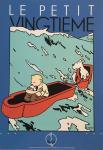 Sérigraphie Le Petit Vingtième : Tintin sarcophage