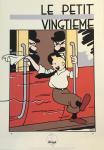 Sérigraphie Le Petit Vingtième Tintin train joie