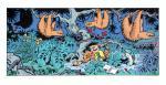 Sérigraphie Franquin Gaston et les paresseux