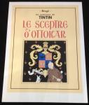 Sérigraphie : Tintin : Le sceptre d'Ottokar N/B