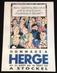 Hergé Tintin sérigraphie expo Stockel 1988