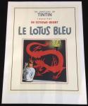 Sérigraphie : Tintin Le Lotus Bleu N/B