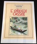 Sérigraphie couverture Tintin L'Oreille cassée N/B