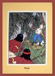 Sérigraphie : Tintin :  Oreille cassée Arumbayas
