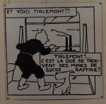 Emaille Soviets : Tintin Milou train Tirlemont N/B