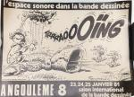 Affiche Franquin Gaston gaffophone Angoulême 1981