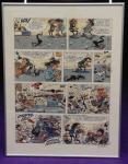 Sérigraphie Franquin planche Gaston et la gomme