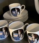 AXIS Tintin 6 tasses moka café Oreille cassée