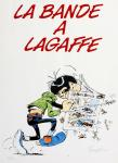 Sérigraphie Franquin La bande Lagaffe mise couleur