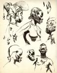Franquin Africains étude orginale encre de chine