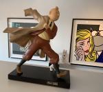 Leblon Hergé Tintin reporter Milou signé Marie