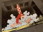 Emaille : Puzzle Lune alunissage fusée 9 plaques