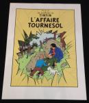 Sérigraphie Escale : Tintin affaire Tournesol
