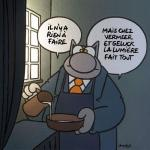Geluck Le Chat hommage : Le Laitier Vermeer