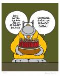 Geluck Le Chat : sérigraphie bougies anniversaire