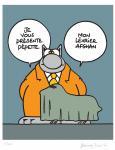 Sérigraphie : Le Chat : Pepette