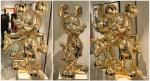 Leblon Mickey Life Size métallisé doré 140cm