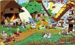 Emaille Uderzo Astérix Obélix Village Gaulois