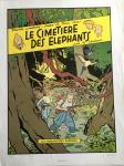 Sérigraphie : Chaland : Le cimetière des éléphants
