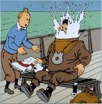 Emaille Rackham : Tintin Haddock scaphandre