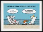 Geluck Le Chat et un ami à Knokke 30 ex