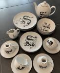 AXIS Tintin service porcelaine Lotus 4 personnes
