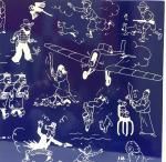 Emaille Tintin page de garde bleue avion