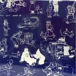 Emaille Tintin page de garde bleue fine