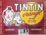 Affiche Hergé Tintin orange