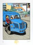 Archives Franquin Spirou camion Vroup
