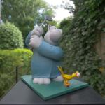Geluck Le Chat sculpture : Le petit golfeur